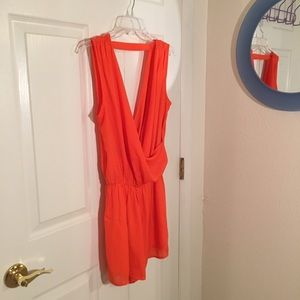 Pants - Orange romper